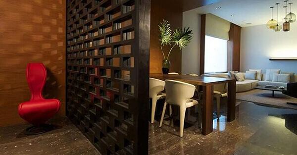 Divisória de madeira decora ambientes
