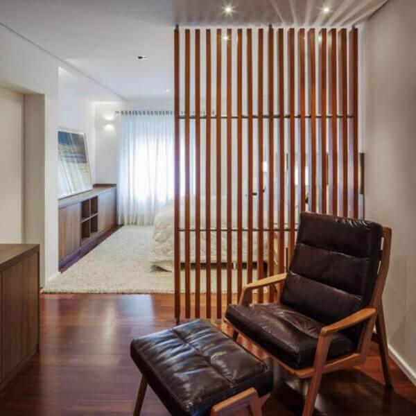Divisória de madeira em ambientes