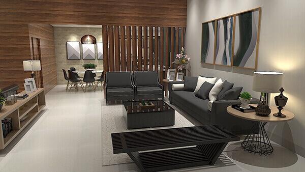 Divisória de madeira em salas