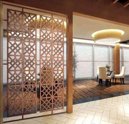 Divisória de madeira para ambientes grandes