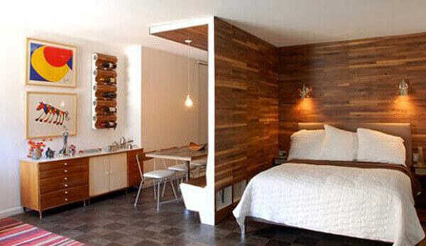 Divisória de madeira para quarto