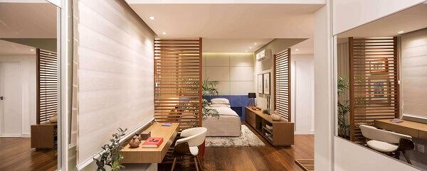 Divisória de madeira para quartos