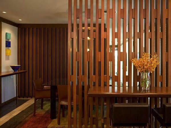 Divisória de madeira vazada para ambientes