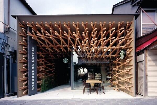 Fachada de loja Starbucks