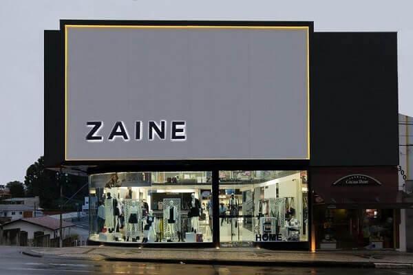 Fachada de loja com vitrine