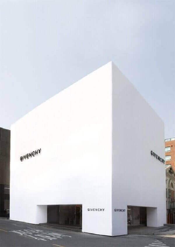 Fachada de loja minimalista