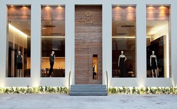 Fachada de loja moderna e elegante