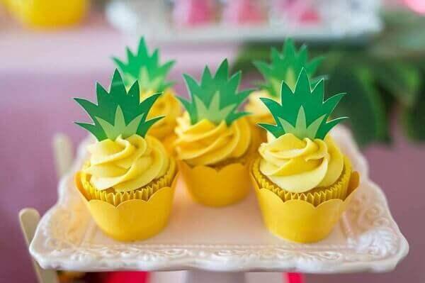 Festa Havaiana cupcakes