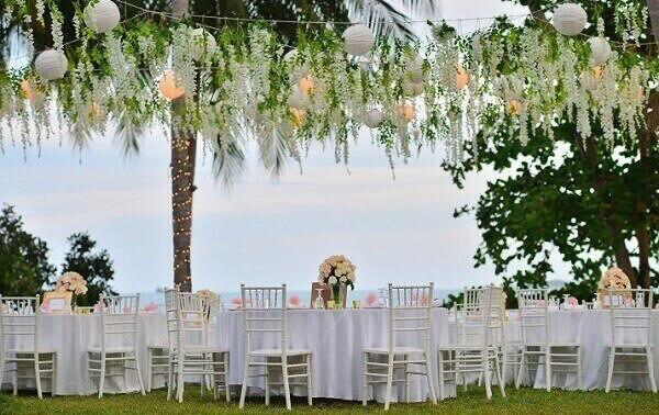 Festa havaiana decoração de casamento