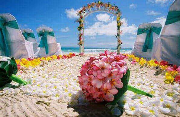 Festa havaiana decoração de casamento Altar