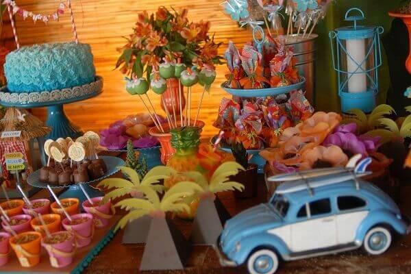 Festa havaiana decoração havaí