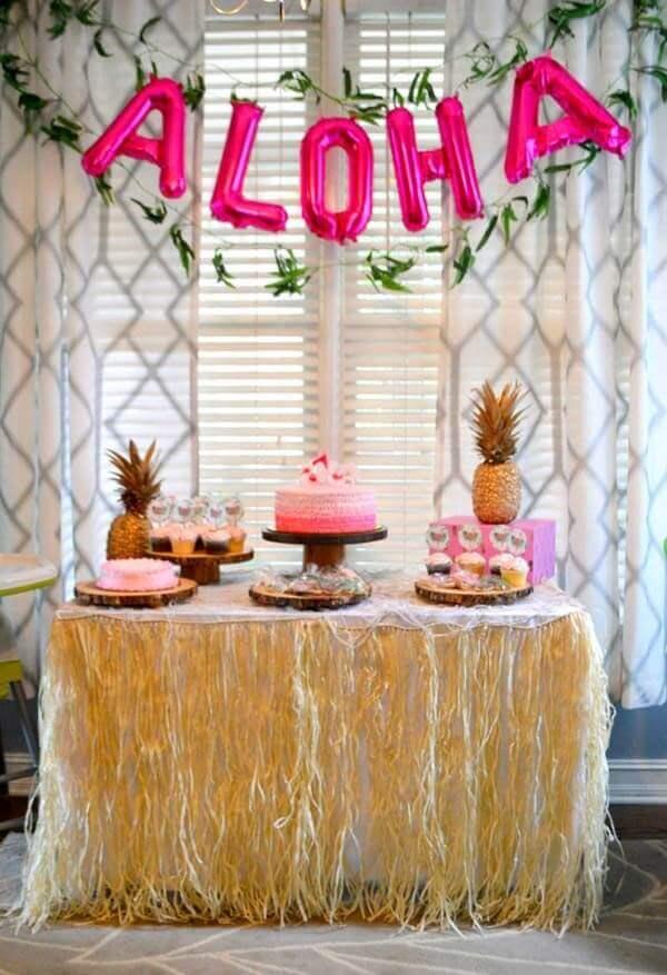Festa havaiana decoração simples