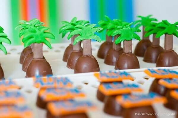 Festa havaiana docinhos