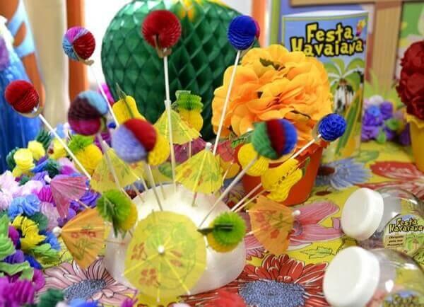 Festa havaiana elementos decorativos