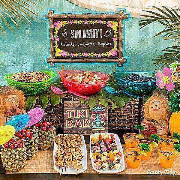 Festa havaiana mesa luau