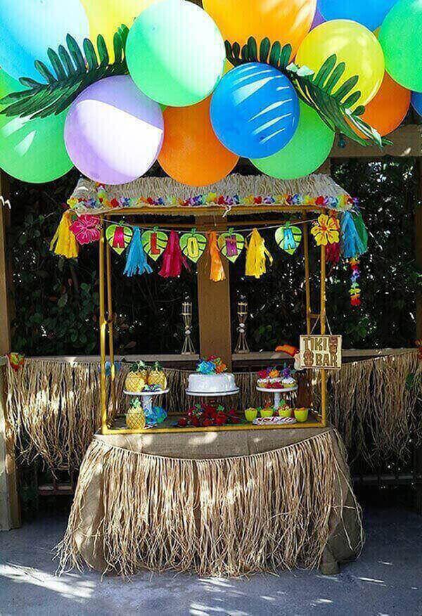 Festa havaiana quiosque
