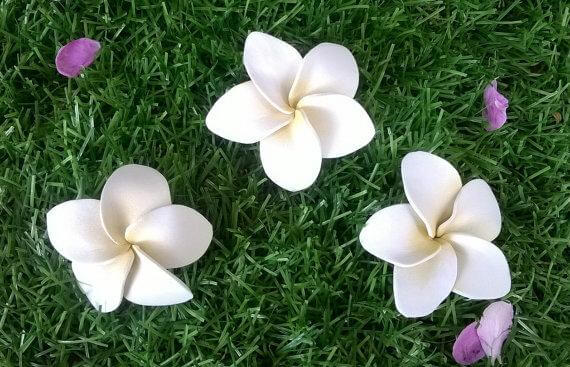 Flores de EVA brancas simples
