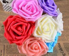 Flores de EVA em buquê colorido Foto de Home Decoo