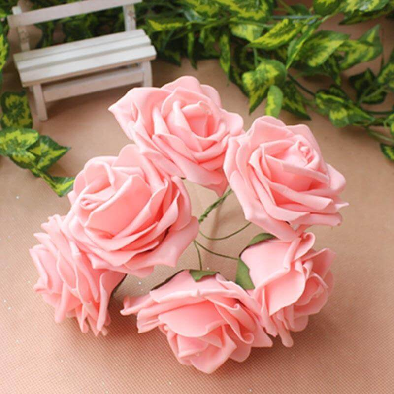 Algumas flores de EVA ficam muito realistas