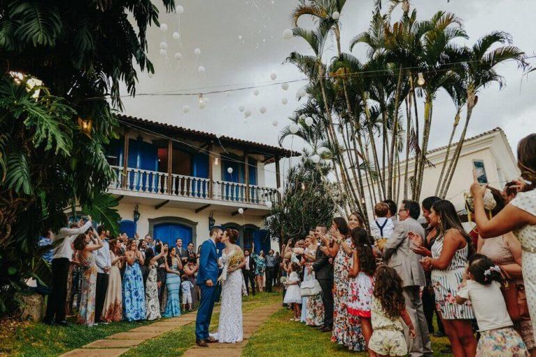 Foto de casamento em casa