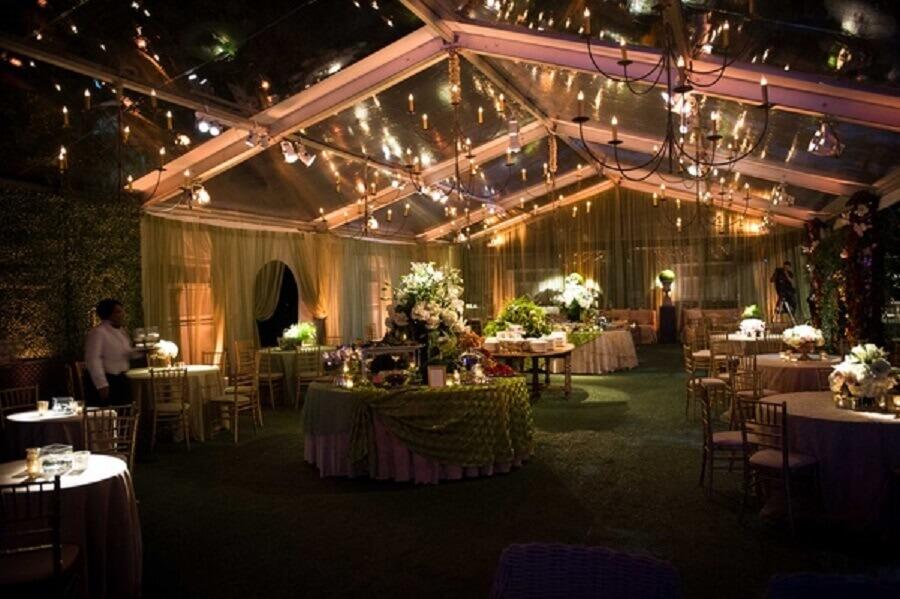 Home Wedding decoração sofisticada