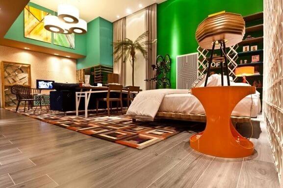 Loft aberto e colorido Projeto de Juliana Pippi