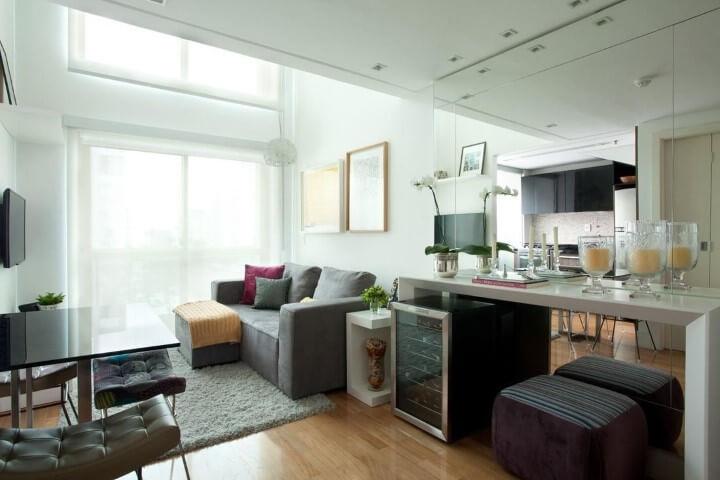 Loft com salas integradas Projeto de Liliana Zenaro