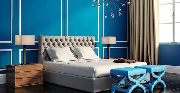 Modelos de quarto azul turquesa