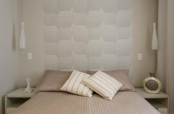 Modelos de quarto de casal para ambientes claros