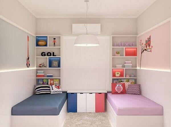 Modelos de quartos compartilhados entre meninos e meninas