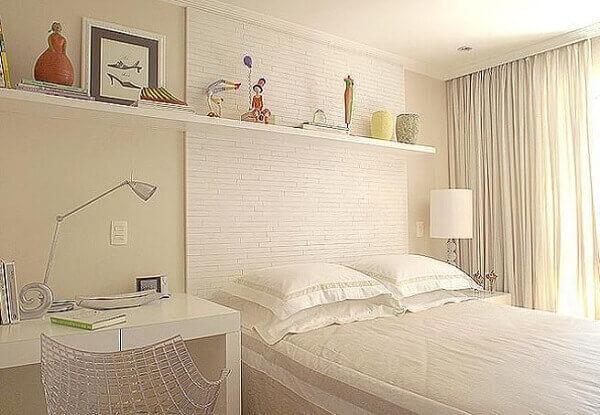 Modelos de quartos de casal em ambientes com espaços pequenos