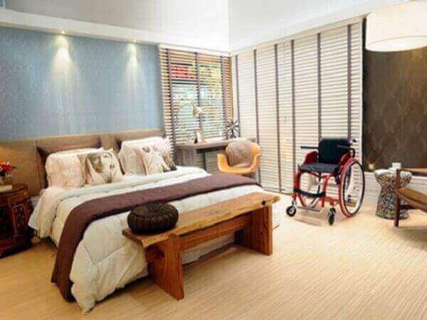 Modelos de quartos de casal para deficientes