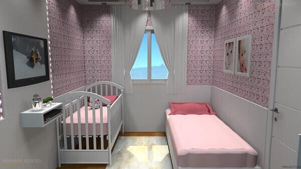 Modelos de quartos planejados para bebês