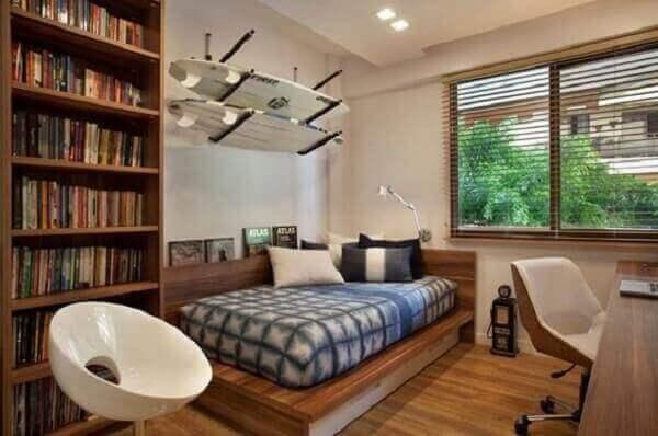 Modelos de quartos planejados para solteiros