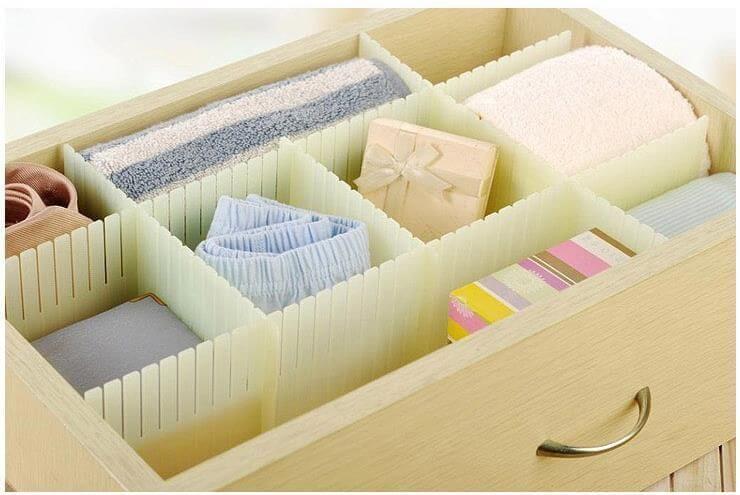Organizador de gavetas adaptável