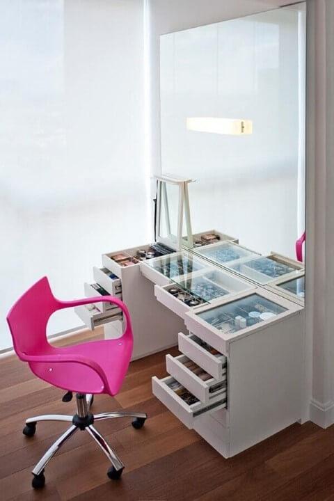 Organizador de gavetas em penteadeira