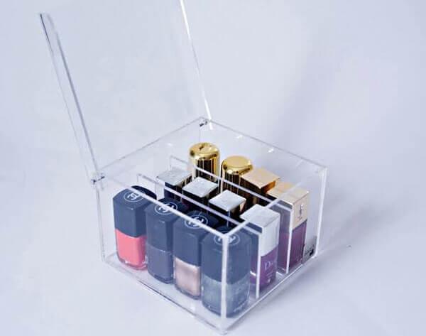 Organizador de maquiagem caixinha pequena