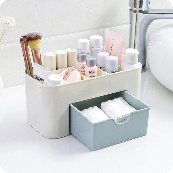 Organizador de maquiagem para banheiros