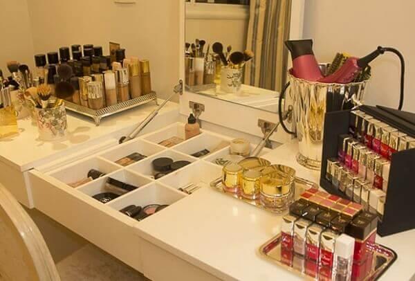 Organizador de maquiagem para penteadeira