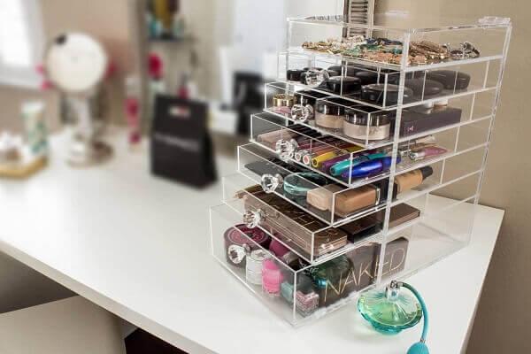 Organizador de maquiagem para quartos