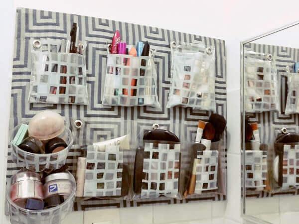Organizador de maquiagem reciclado