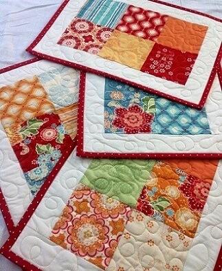 Susplat de patchwork com costura diferente Foto de Pinterest