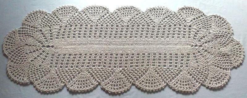 Tapete de crochê para cozinha - tapete de crochê simples