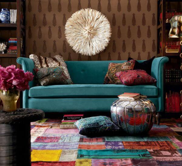 Tapete de patchwork com várias clores Foto de Home Design & Life Style