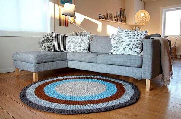 Tapetes da decoração de crochê