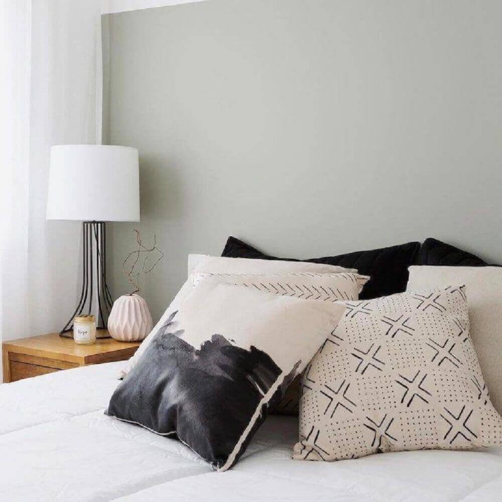 almofadas para decoração hygge em quarto foto Pinterest