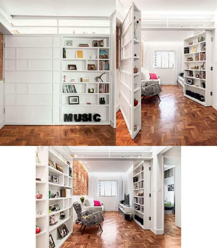 apartamento pequeno decorado com marcenaria planejada