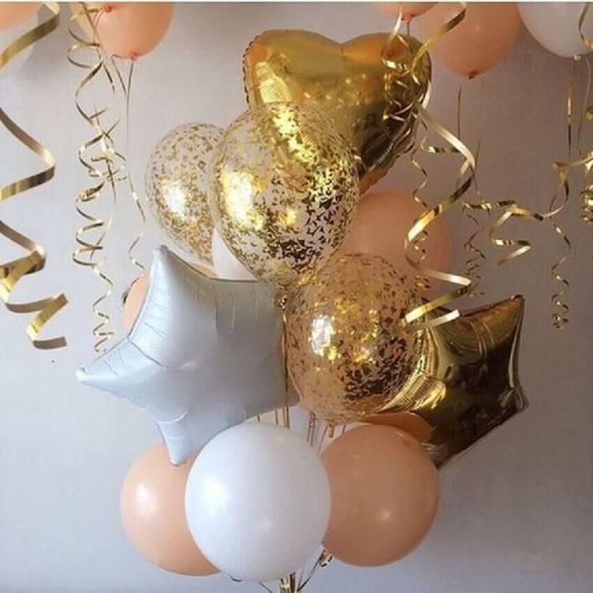 balões diferentes para decoração de festa de 15 anos