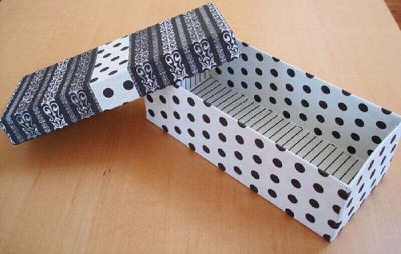 caixa de papelão decorada para embalagem de presente Foto Pinterest