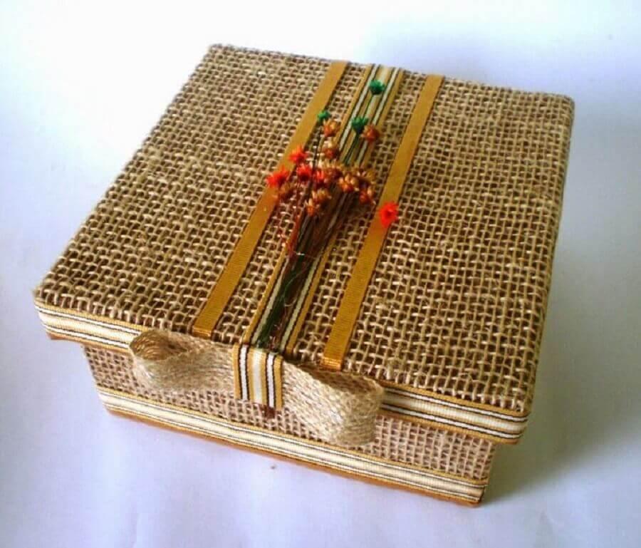caixas decoradas rústicas Foto Pinterest